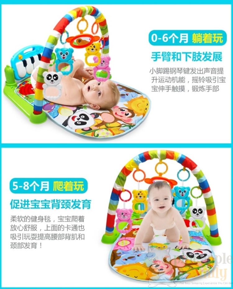 728cfc70c82ba 1 x Pineapple Baby Play Toys Activity Baby Gym Educational Fitness Frame  Toys Game Children Music Piano Exercise Racks Intelligence Toys